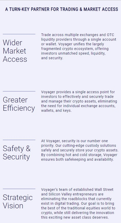 Voyager institutional