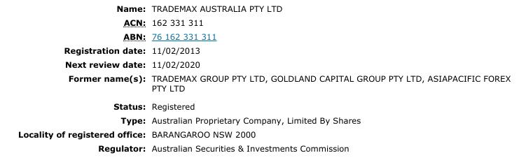 TradeMax Forex broker
