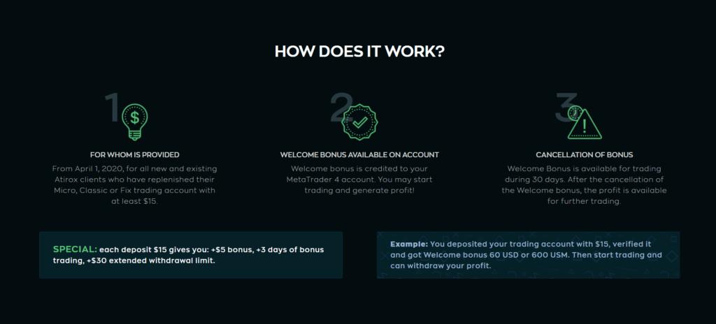 Atirox Welcome Bonus