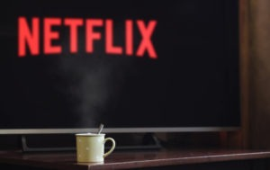 Netflix is up about 3%