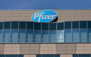 Shares of Pfizer up
