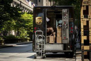UPS shares surge