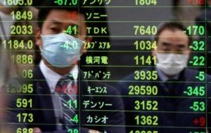 asian stocks down