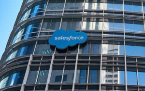 Shares of salesforce increase